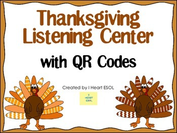 Thanksgiving Listening Center with QR Codes