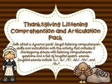 Thanksgiving Listening Comprehension and Articulation Pack