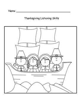 Thanksgiving Listening Skills and Ordinal Numbers
