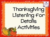 Thanksgiving Listening for Details Pack