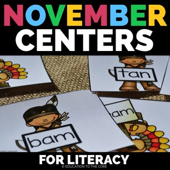 Thanksgiving Literacy, Thanksgiving Centers, Thanksgiving Activities