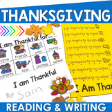 Thanksgiving Reading and Writing Activities for Preschool