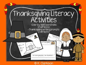Thanksgiving Literacy Activities {Sight Words} {Writing}