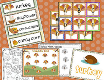 Thanksgiving Literacy Games