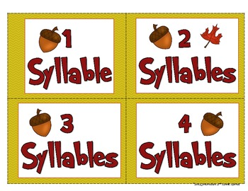 Thanksgiving Literacy Activities: ABC Order,Compound Words, Syllables