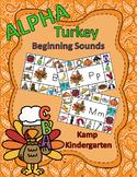Thanksgiving Literacy Activities Alpha Turkey Beginning Consonant Sounds