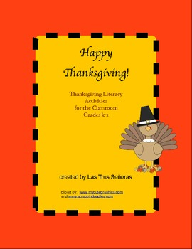 Thanksgiving Literacy Activities Grades K-1