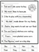 Thanksgiving Literacy Printables and centers