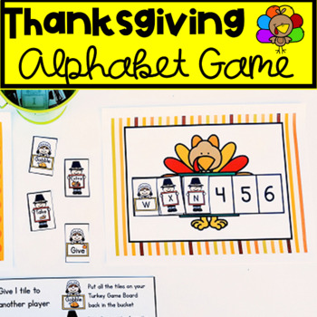 Thanksgiving Literacy Activity- Letter Recognition Game- Literacy Centers