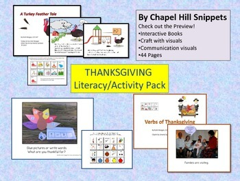 Thanksgiving Literacy/Activity Packet---Special Education/ SLP