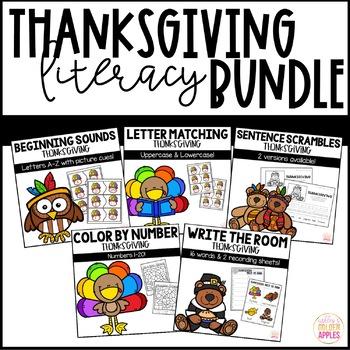 Thanksgiving Literacy Bundle