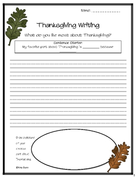 Thanksgiving Literacy Center Activities and Worksheets