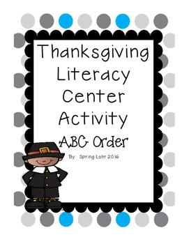 Thanksgiving Literacy Center Activity - ABC Order