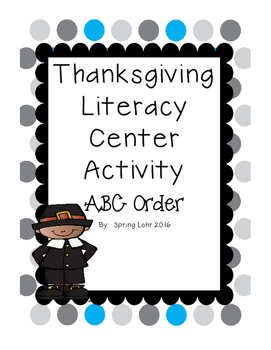 Thanksgiving Literacy Center Activity - ABC Order