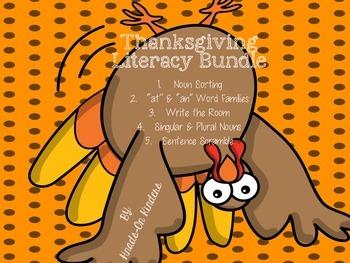 Thanksgiving Literacy Center Bundle