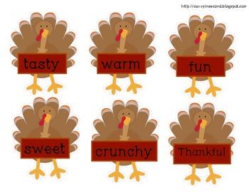 Thanksgiving Literacy Center: Parts of Speech