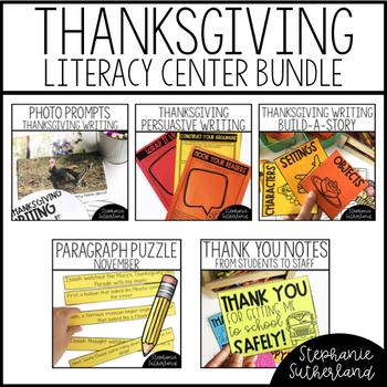 Thanksgiving Literacy Centers BUNDLE