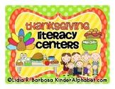Thanksgiving Literacy Centers- English