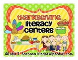 Thanksgiving Literacy Centers- English