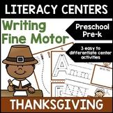 Thanksgiving Literacy Centers: Differentiated Writing for Preschool, PreK & K