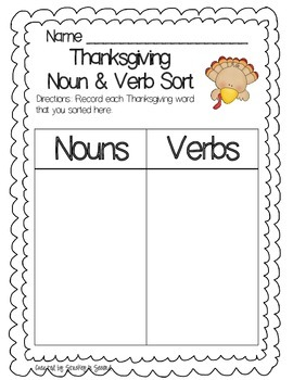 Thanksgiving Literacy Centers PART TWO (7 Centers!)
