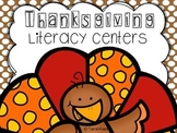 Thanksgiving Literacy Centers {a free preview}