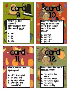 Thanksgiving: Literacy Centers and 2 Craftivities