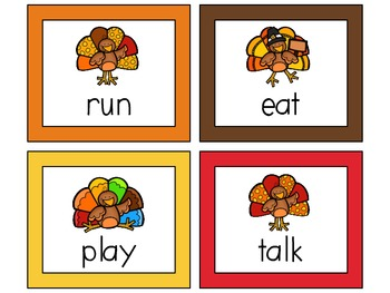 Thanksgiving Centers for 1st Grade