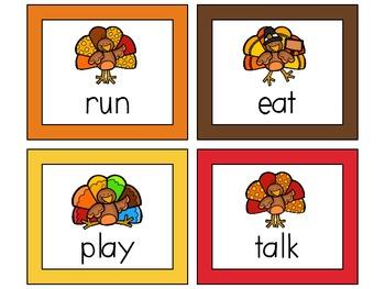 Thanksgiving Centers for 1st Grade