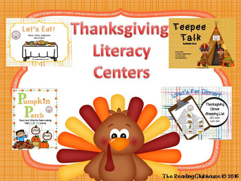 Thanksgiving Literacy Centers and Activities