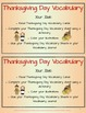 Thanksgiving Literacy Centers for 2nd and 3rd Grade ELA Common Core Standards