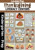 Thanksgiving Literacy Centers for Kindergarten