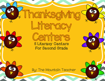 Thanksgiving Literacy Centers for Second Grade