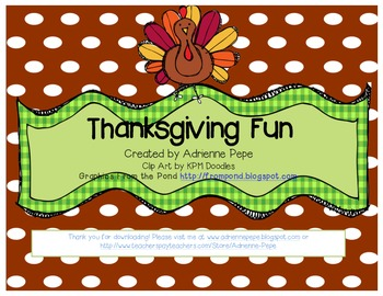 Thanksgiving Literacy Fun