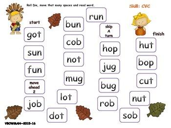 Thanksgiving Literacy Games -2