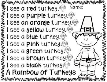 Thanksgiving Literacy No Prep Packet