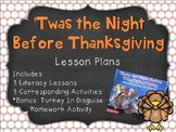 Thanksgiving Literacy Lessons for 'Twas the Night Before Thanksgiving