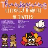 Thanksgiving Literacy & Math Activities