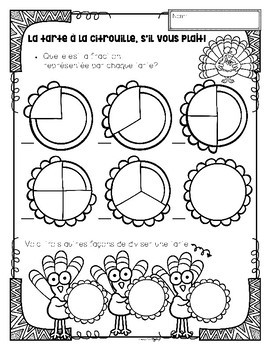 Thanksgiving ~ French ~ Literacy, Math & Art