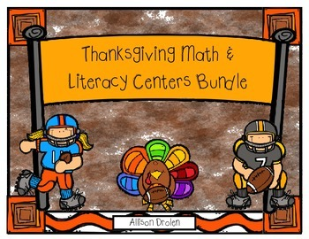 Thanksgiving Literacy & Math Center Bundle