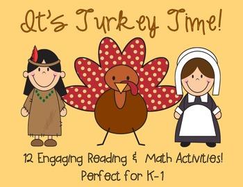 Thanksgiving Literacy & Math Games!