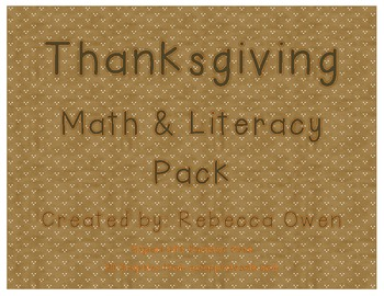 Thanksgiving Literacy & Math Pack