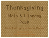 Thanksgiving Literacy & Math Pack