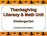 Thanksgiving Literacy & Math Unit