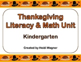 Thanksgiving Literacy & Math Unit