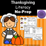 Thanksgiving Literacy No-Prep