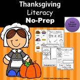 Thanksgiving Literacy No-Prep