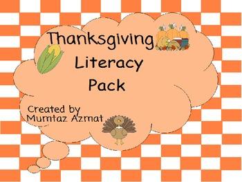 Thanksgiving Literacy Pack For kindergarten & Grade 1:
