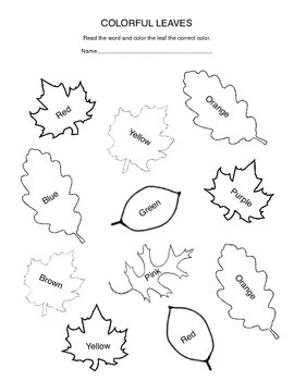 Thanksgiving Literacy Pack - Sight Words/Color Words