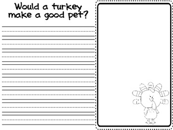 Thanksgiving Literacy Pack (color and b&w)